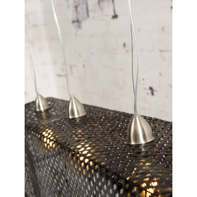 KOMODO bamboo suspension lamp (black) - image 45310
