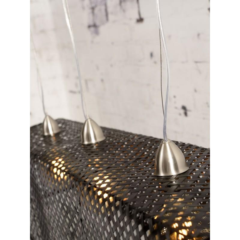 Lampe à suspension en bambou KOMODO (noir) - image 45310