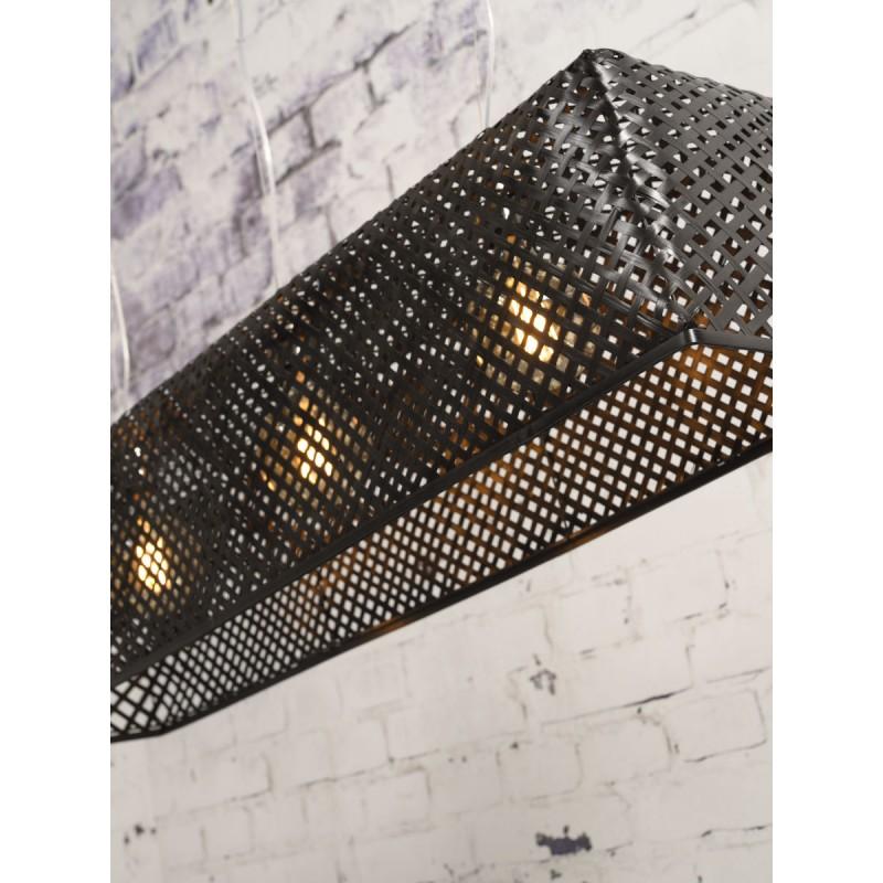 Lámpara de suspensión de bambú KOMODO (negro) - image 45311