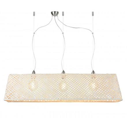 KOMODO lampada a sospensione in bambù (bianca)
