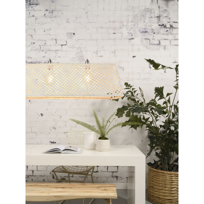 KOMODO bamboo suspension lamp (white) - image 45325