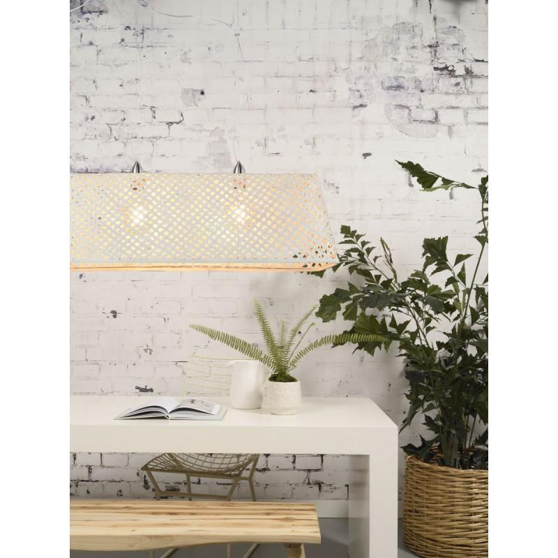 KOMODO Bambus Hängeleuchte (weiß) - image 45325
