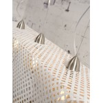 Lampe à suspension en bambou KOMODO (blanc)