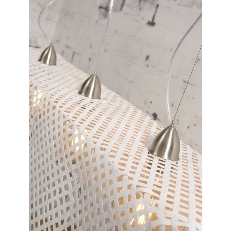 KOMODO bamboo suspension lamp (white) - image 45329