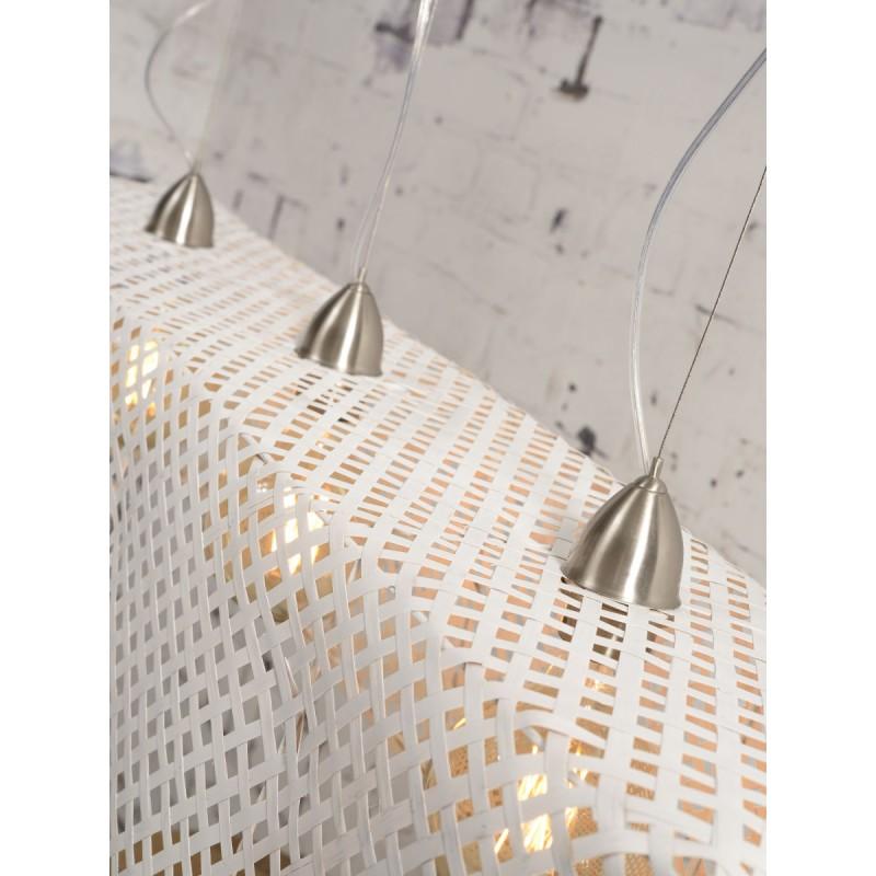 Lampe à suspension en bambou KOMODO (blanc) - image 45329