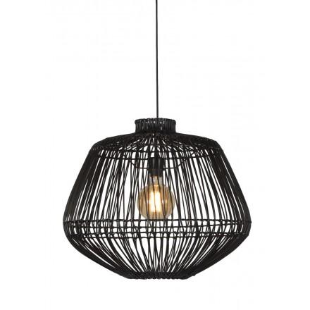 Lampe à suspension en rotin MADAGASCAR (noir)