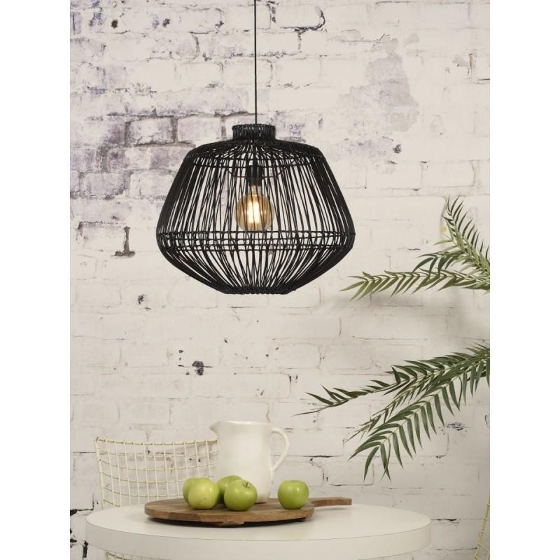 Lampe à suspension en rotin MADAGASCAR (noir) - image 45336