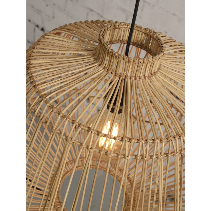 MADAGASCAR rattan suspension lamp (natural) - image 45346