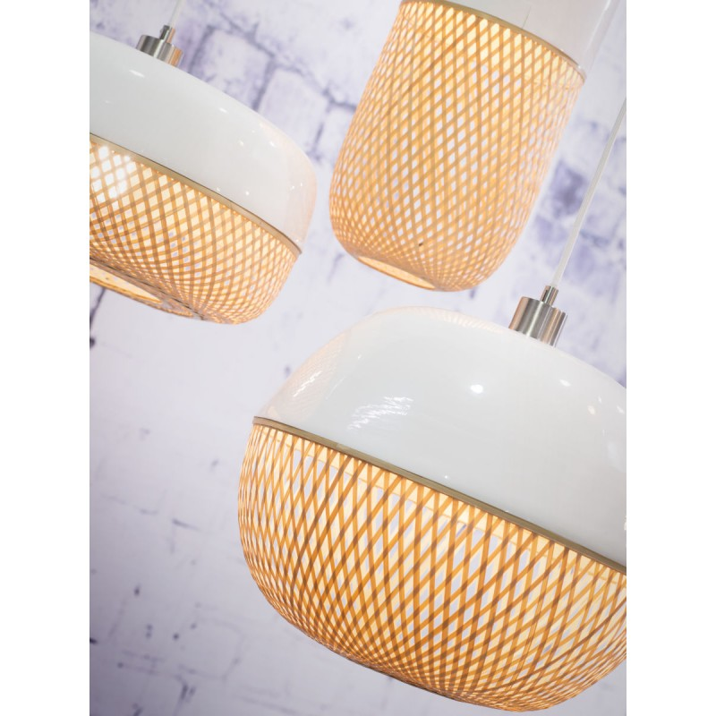 MEKONG round bamboo suspension lamp (40 cm) (white, natural) - image 45375