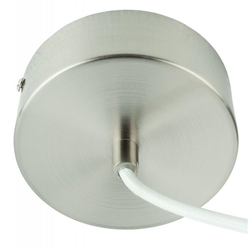 Lampada a sospensione in bambù rotondo MEKONG (40 cm) (bianca, naturale) - image 45379