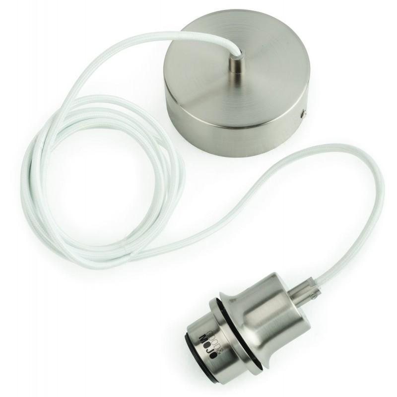 Lampe à suspension en bambou MEKONG oval (Ø 40 cm) (blanc, naturel) - image 45391