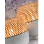 Lampe de table en bambou MEKONG SMALL (blanc, naturel)