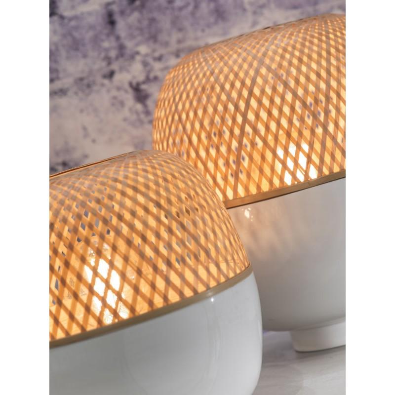 MEKONG SMALL bamboo table lamp (white, natural) - image 45395