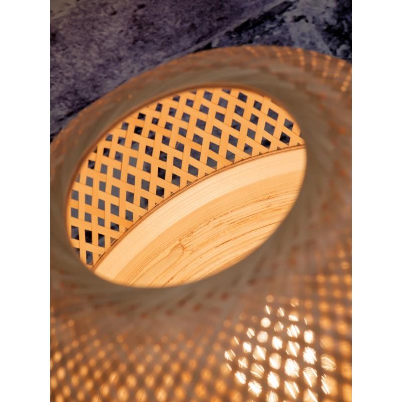 MEKONG SMALL bamboo table lamp (white, natural) - image 45396