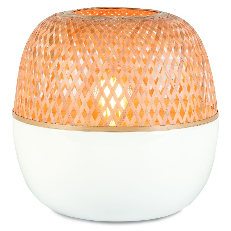 MEKONG XL bamboo table lamp (white, natural)