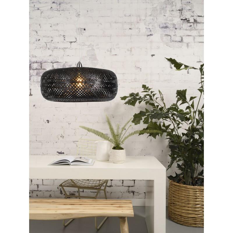 PALAWAN Bambus Hängeleuchte (schwarz) - image 45409