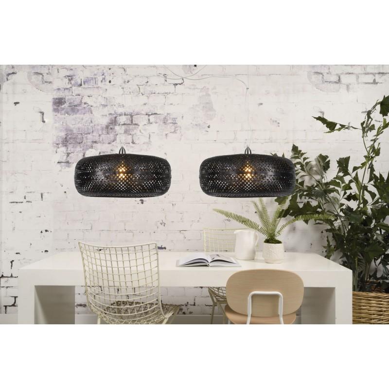 Lampe à suspension en bambou PALAWAN (noir) - image 45410
