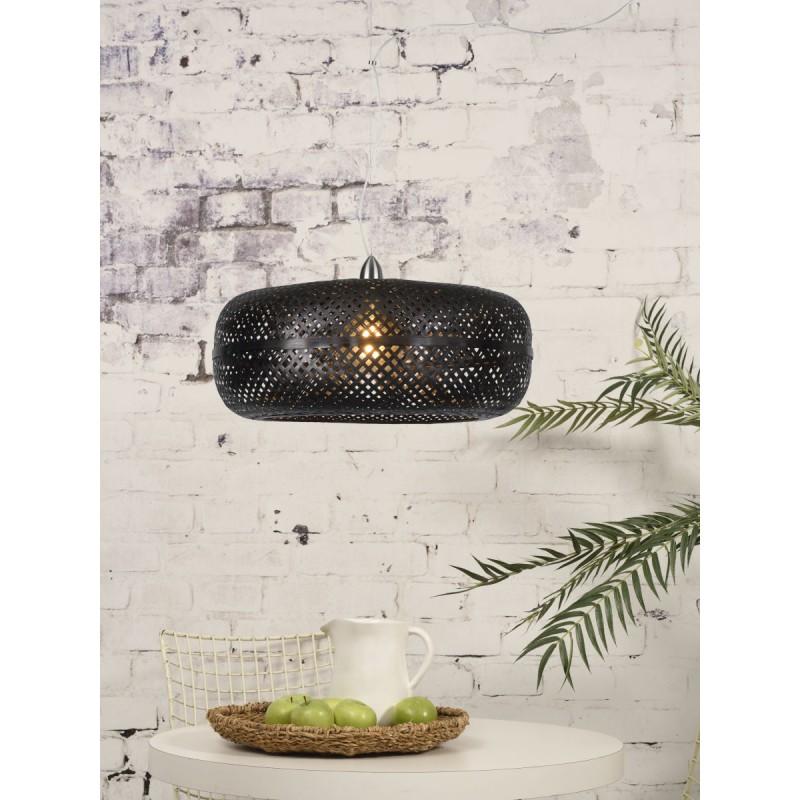 Lampada sospensione in bambù PALAWAN (nero) - image 45411