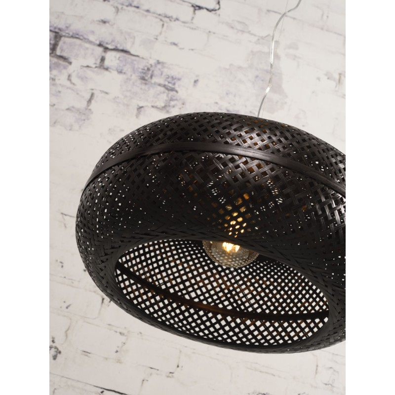 Lampada sospensione in bambù PALAWAN (nero) - image 45414