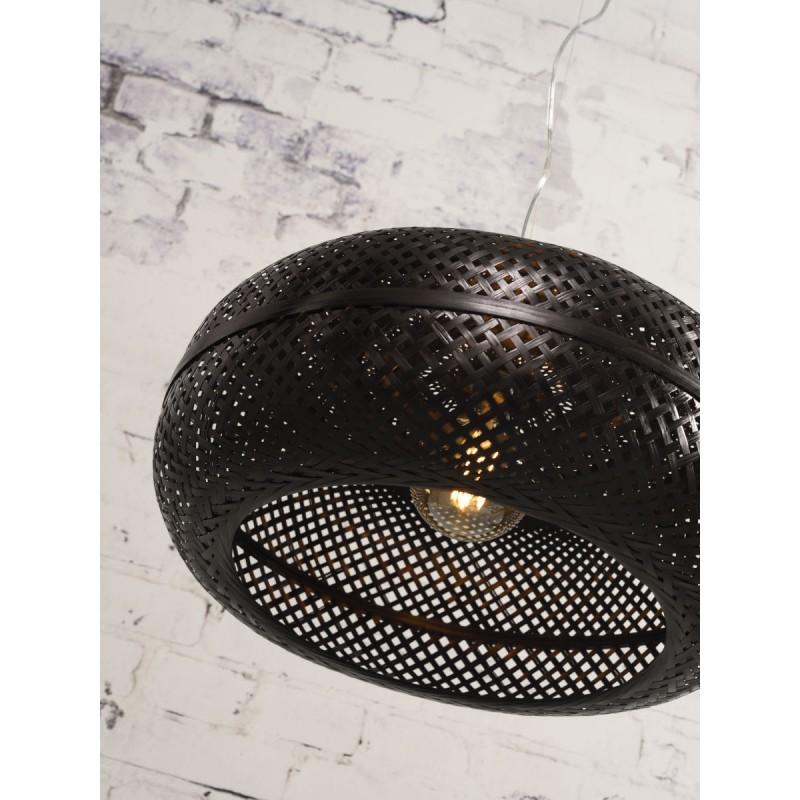 Lámpara de suspensión de bambú PALAWAN (negro) - image 45414