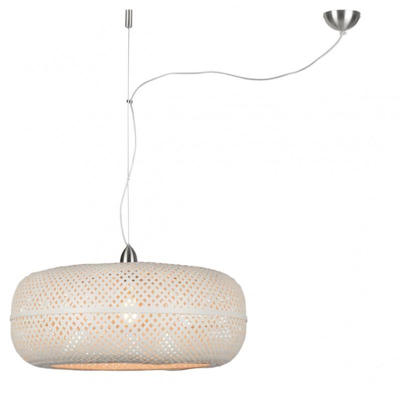 Lampe à suspension en bambou PALAWAN (blanc) - image 45426
