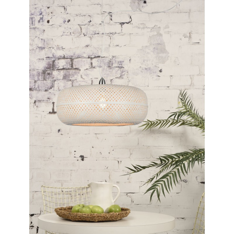 Lampada a sospensione di bambù PALAWAN (bianca) - image 45429