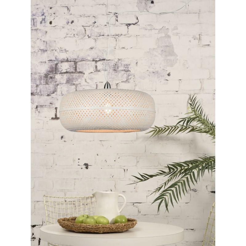 Lampe à suspension en bambou PALAWAN (blanc) - image 45429