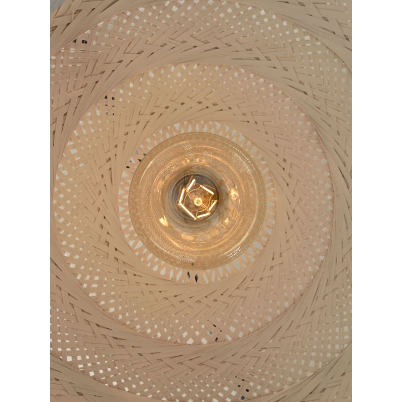 PALAWAN bamboo suspension lamp (white) - image 45433
