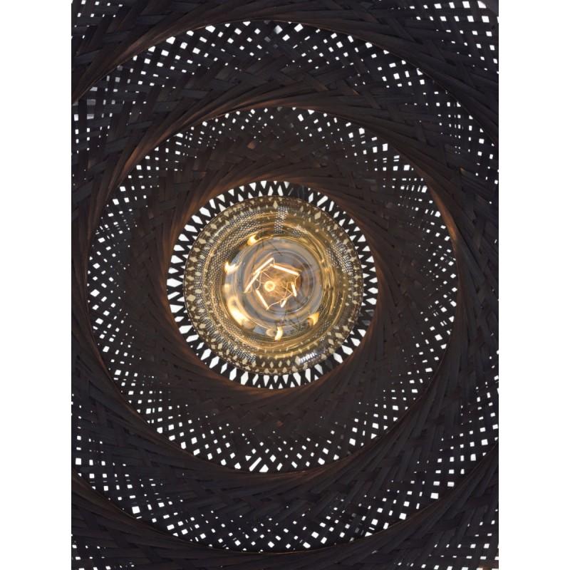 PALAWAN bamboo suspension lamp 2 lampshades (black) - image 45447