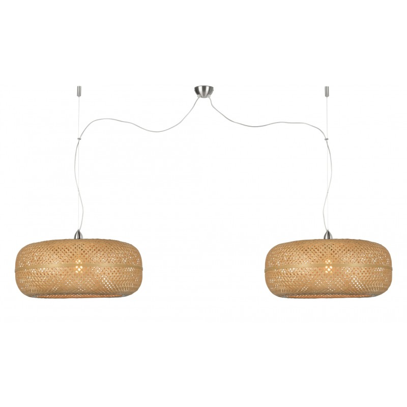 PalaWAN lámpara de suspensión de bambú 2 pantallas (natural) - image 45449