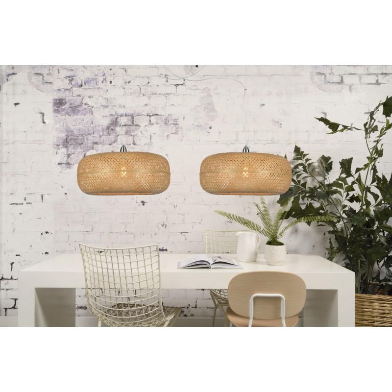 PALAWAN bamboo suspension lamp 2 lampshades (natural) - image 45450