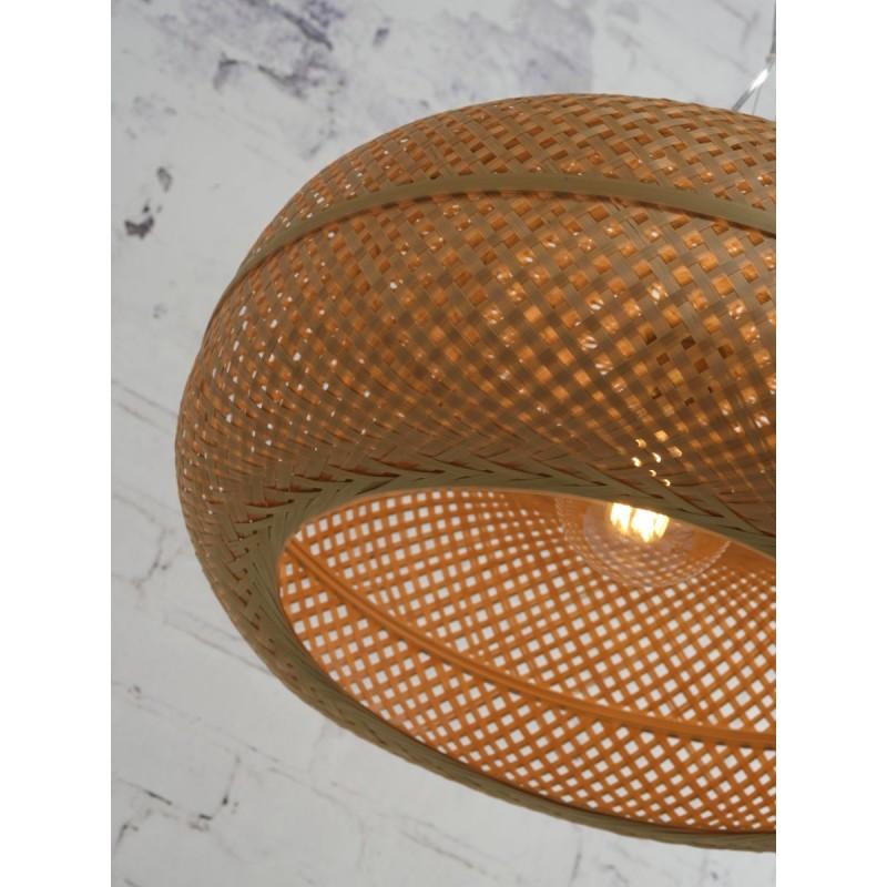 PALAWAN bamboo suspension lamp 2 lampshades (natural) - image 45453