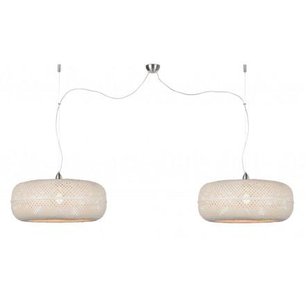 Lampada sospensione PALAWAN 2 paralumi (bianco)