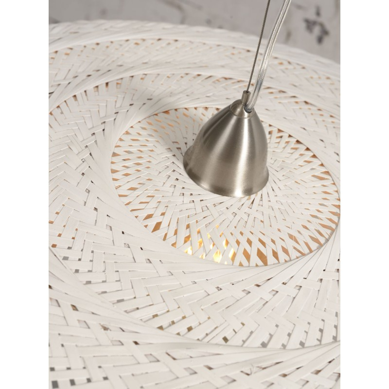 Lampe à suspension en bambou PALAWAN 2 abat-jours (blanc) - image 45458
