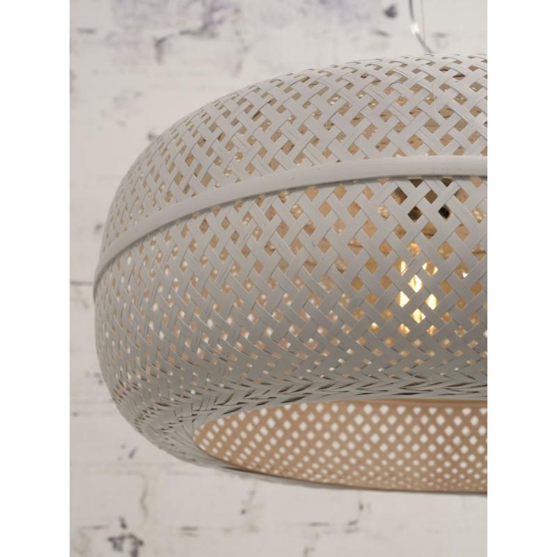 PalaWAN lámpara de suspensión de bambú 2 pantallas (blanco) - image 45459