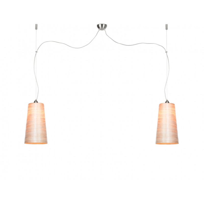 Lampada SUSPENSION in paralumi abaca SAHARA XL 2 (naturale)