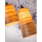 SUSPENSION lamp in abaca SAHARA XL 2 lampshades (natural)