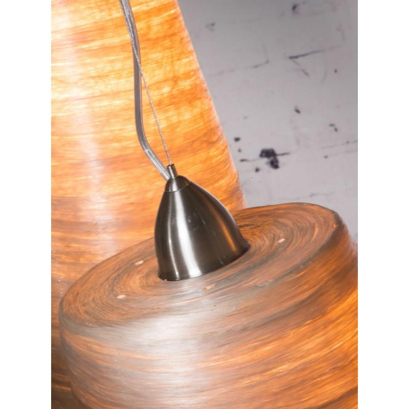 Lampe à suspension en abaca SAHARA XL 2 abat-jours (naturel) - image 45524