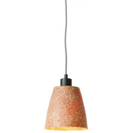 Lampe à suspension en copeaux de bois SEQUOIA 1 abat-jour (naturel)
