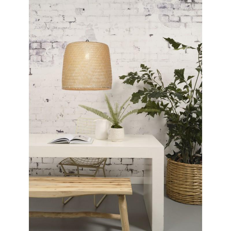 SERENGETI Bambus Hängeleuchte 1 Lampenschirm (natürlich) - image 45562