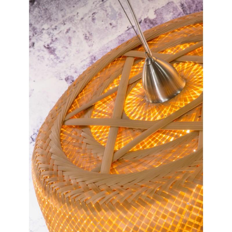 Bamboo suspension lamp SERENGETI 2 lampshades (natural) - image 45567
