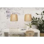 Lampe à suspension en bambou SERENGETI 2 abat-jours (naturel)