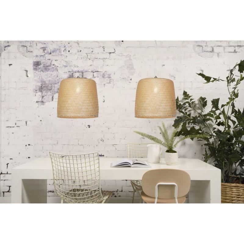 Bamboo sospensione lampada SERENGETI 2 paralumi (naturale) - image 45572