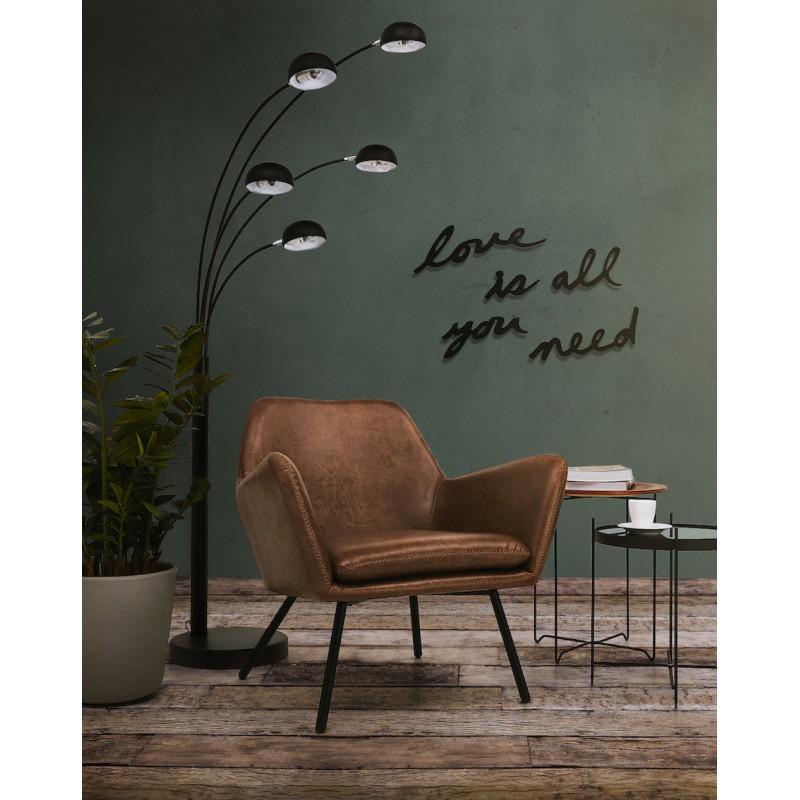 Lampe sur pied design 5 abat-jours ROLLIER en métal peint (noir) - image 45586