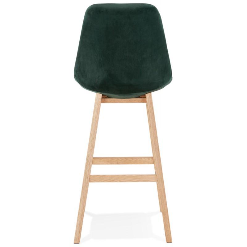 Scandinavian design bar stool in natural-colored feet CAMY (green) - image 45648