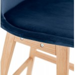 Mid-height bar pad Scandinavian design in natural-colored feet CAMY MINI (blue)