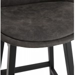 Vintage mid-height bar pad in microfiber black feet LILY MINI (dark grey)