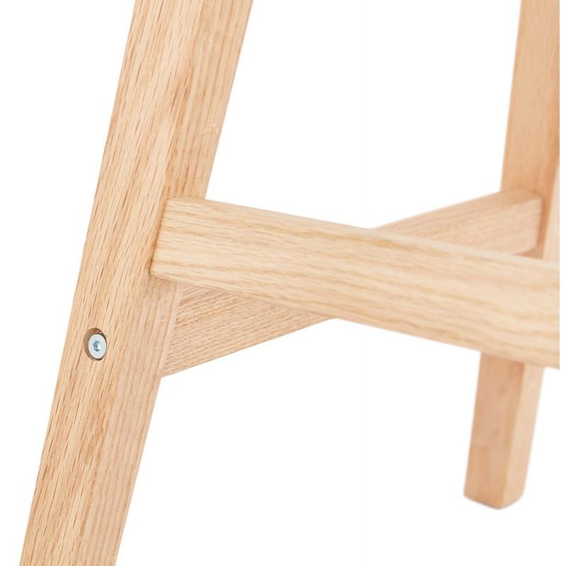 Almohadilla de barra de altura media Diseño escandinavo en patas de microfibra color natural LILY MINI (gris oscuro) - image 45703