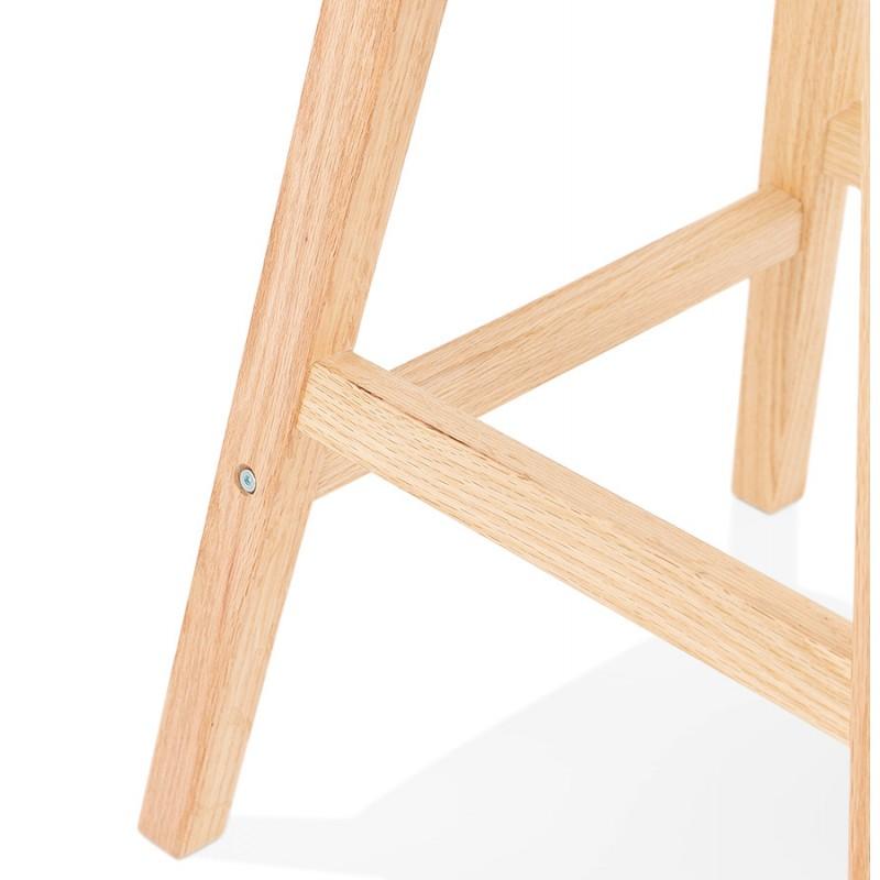 Bar pad a media altezza Disegno scandinavo in microfibra piedi colore naturale LILY MINI (grigio scuro) - image 45704