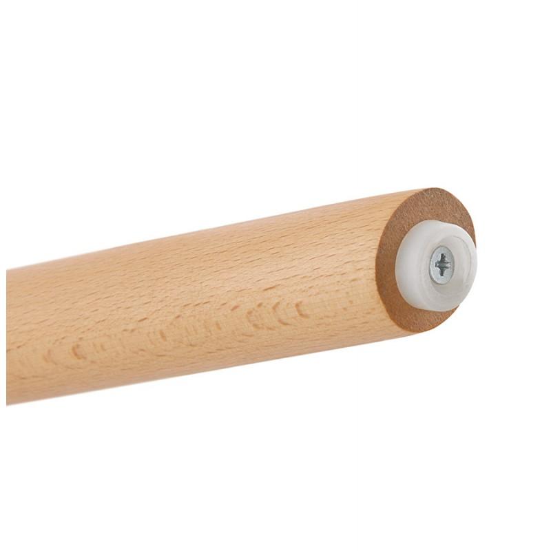 Barra de barra de altura media escandinava en pies de terciopelo de madera de color natural MERRY MINI (azul) - image 45804